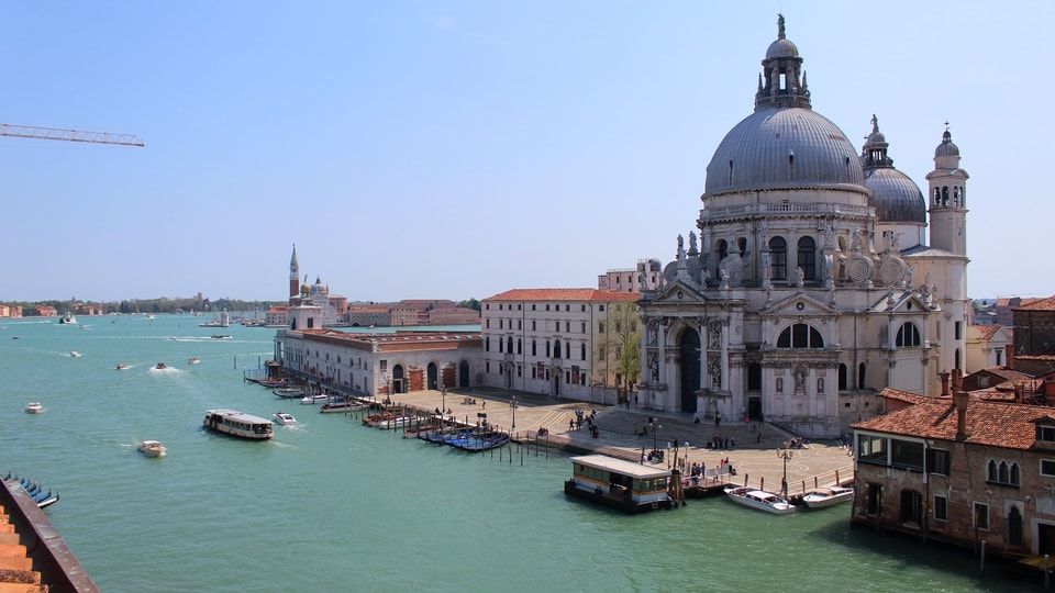 View of the church of Santa Maria della Salute