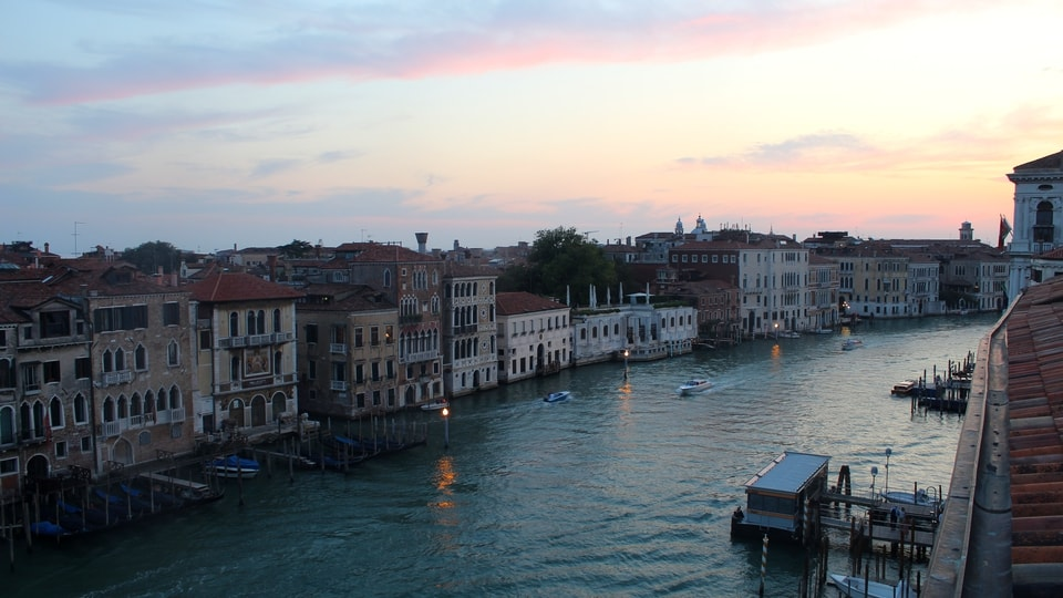 Live view of the Grand Canal from The Gritti Palace