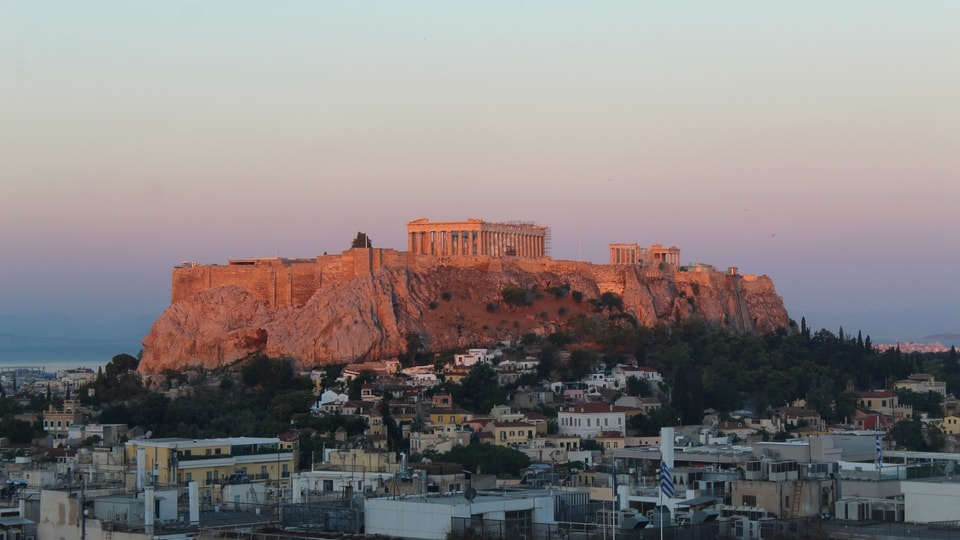 The famed Acropolis and Parthenon